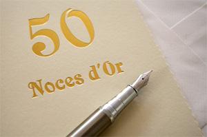 50 Ans De Mariage Noces Dor